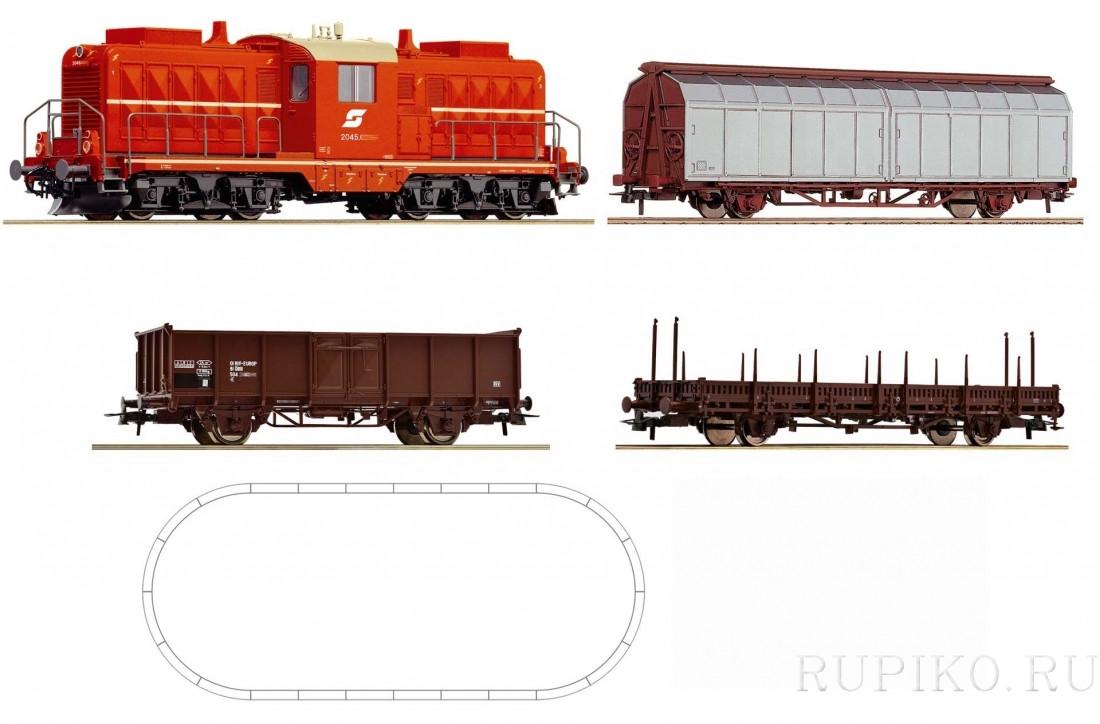 ROCO 51270A Стартовый набор грузовой состав