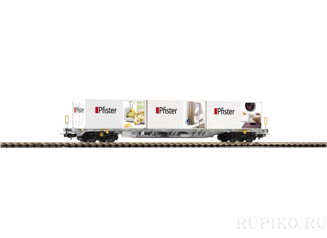 Piko 54682 Платформа с 3 контейнерами PFISTER