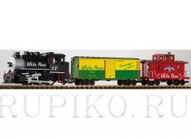 PIKO 37106 Стартовый набор грузовой состав с паровозом White Pass Yukon