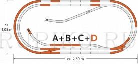 ROCO 61103 Набор путей D