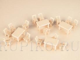 Auhagen 41607 Столы и стулья