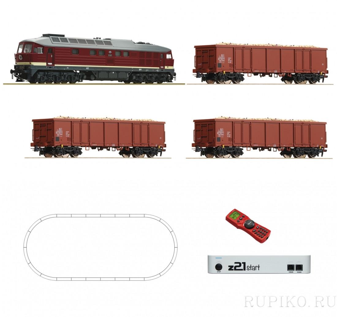 ROCO 51292 BR 132 с грузовым составом