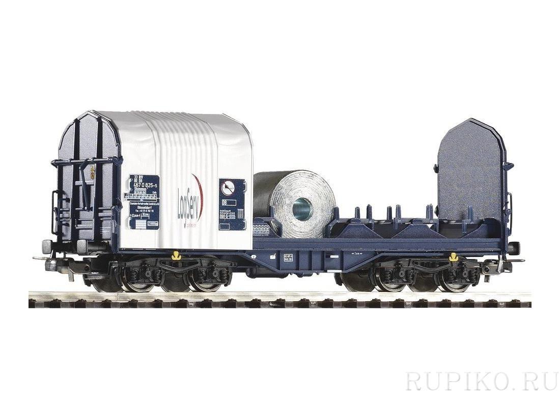 PIKO 54396 Платформа крытая брезентом DB AG LogServ