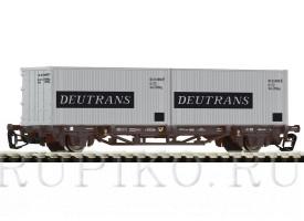 PIKO 47705 Платформа с контейнерами Deutrans