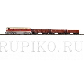 PIKO 57138 BR 119 с тремя грузовыми вагонами
