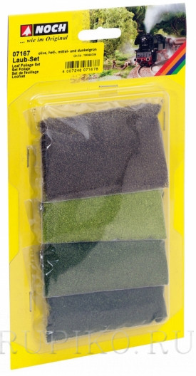 Noch 07167 Набор присыпки 4-х зеленых оттенков