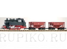 Piko 37100 Стартовый набор паровоз BR80 с 2 грузовыми вагонами