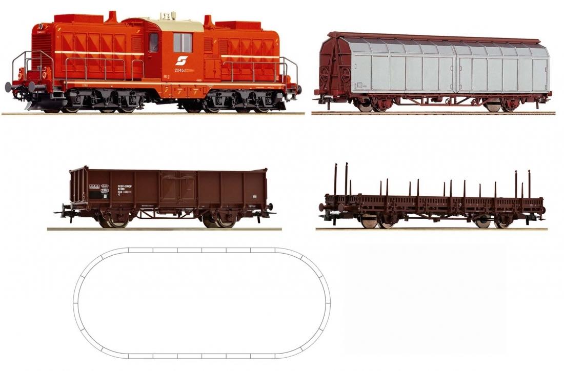 ROCO 51270 Стартовый набор грузовой состав