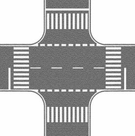 Noch 60714 Перекресток дорожный серый